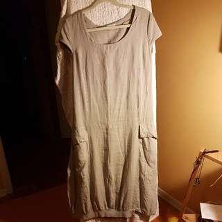 Linen Dress, Sz M