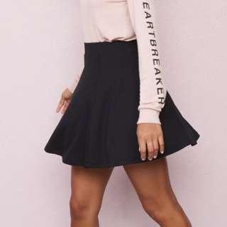 GARAGE Black Skater Skirt
