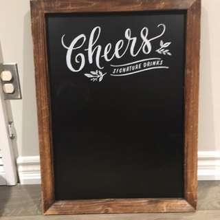 """Chalkboard """"Cheer"""" Sign"""