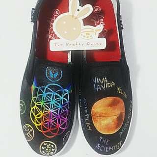 COLDPLAY custom Shoes
