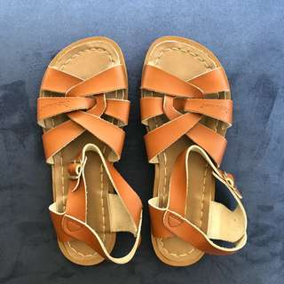 Saltwater Sandals Tan Size 4/US 6