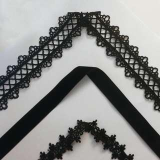Handmade Black And Lace Chokers