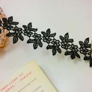 Handmade Black Floral Lace