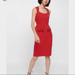Lovebonito Heart shape Neckline Peplum Dress
