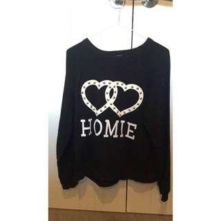 Forever 21 Homie Black Sweatshirt