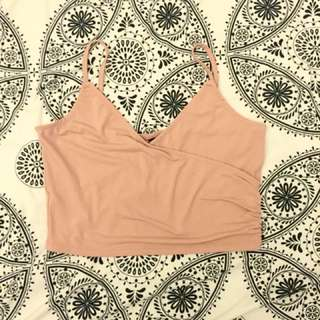 Pink Tank Crop Top From H&M