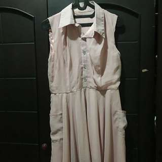 Baby Pink Casual Dress