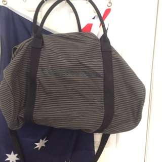 Stripe Country Road Zip Canvas Logo Tote