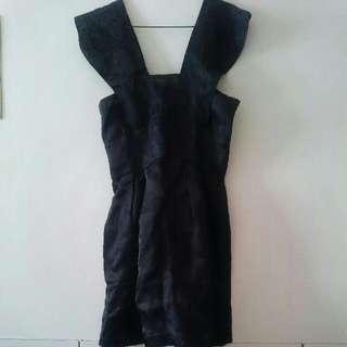 紐約帶回 全新 Jill Stuart 黑色緞面典雅小洋裝