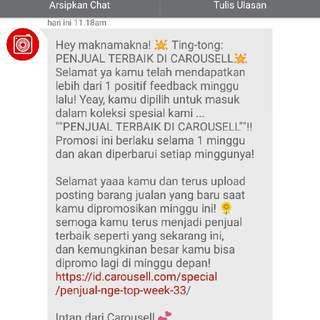 Ku_bersyukur... akhirnya, for the 1st time.💙🙏👍 Hatur-kasih Tuhan, Carousell & Colleagues🙏 MERDEKA🇮🇩!!!