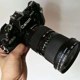 Canon AE-1 Black FD 35-105mm F3.5