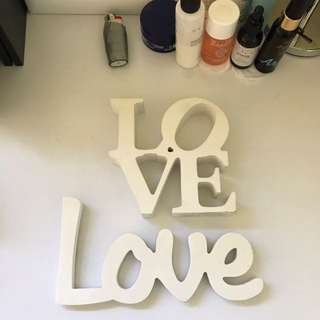 "Word ""love"" Decor"