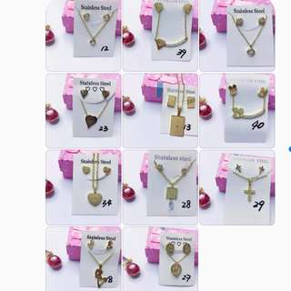Set Gold Stainless Jewelry