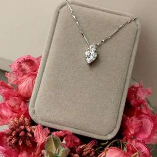 高貴鑲心型吊墜閃亮頸鏈 Elegant Noble Lnlaid Heat Pendant Shiny Necklace