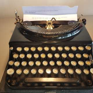 rare Remington typewriter