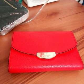 prelove kate spade red folded wallet