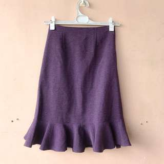 Violet High Waist Mermaid Skirt