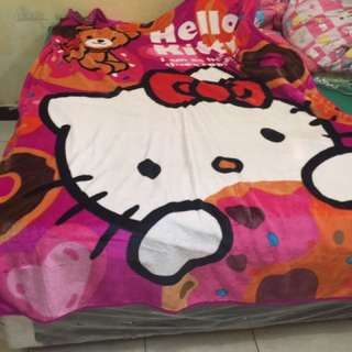 Selimut Sutra Hello Kitty