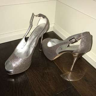 Silver Guess Heels