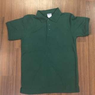 綠色棉質簡單襯衫