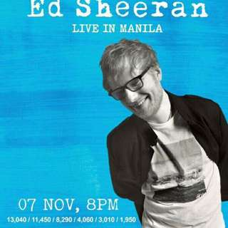 ED SHEERAN CONCERT TICKETS