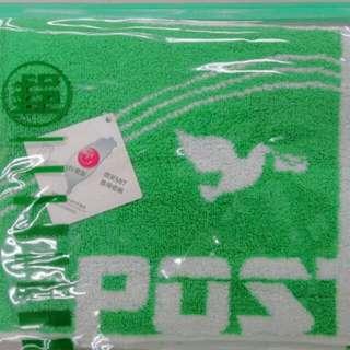 【全新】青草綠和平鴿雙色厚磅數運動浴巾毛巾105X33cm#夏日九九出清