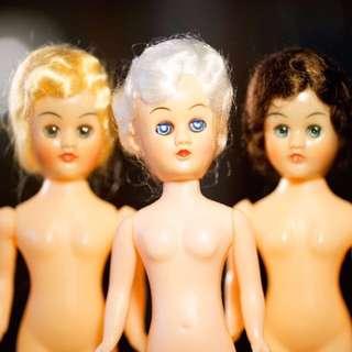 懷舊 公仔 膠公仔 娃娃 Plastic Doll Made In Hong Kong