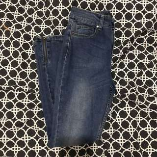 Glassons Blue Detailed Jeans