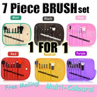 2 FOR $9.90 Japan Make Up Brush Set ( 7 pieces + Pouch )