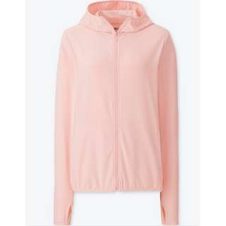 BRAND NEW UNIQLO WOMEN AIRism JAKET HOODIE RETSLETING UV CUT MESH (LONGSLEEVES)