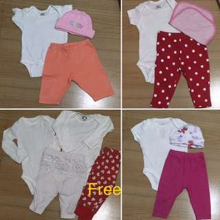 Take All Newborn To 3 Months Onesies Pants Bonnets For Baby Girl