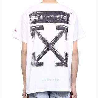 ( M SIZE ) Off-White AW17 Collection Seeing Things White Cotton Jersey T Shirt Limited Edition Street Wear !