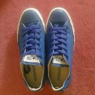 Converse 深藍海洋款/純色休閒鞋 已送洗#交換最划算
