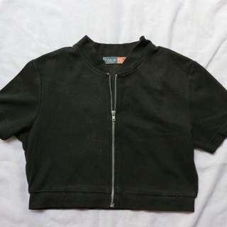 Black Crop Vest Colorbox