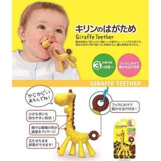 ★現貨★【KIC】韓國製 嬰幼兒 固齒器 長頸鹿 磨牙 玩具
