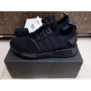 adidas NMD R1 Primeknit Japan Triple Black BNIB authentic 100000%
