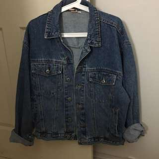 Oversized Denim Jacket Size 8-10