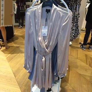 Bardot Silky Long Sleeve Dress