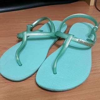 havaianas 藍色拖鞋/涼鞋 37-38