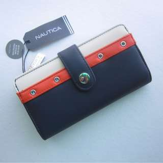Nautica Montauk Rfid Tab Clutch Long Wallet Organizer -SUPER DUPHER SALE