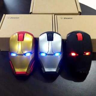 Ironman Wireless Mouse With Led Light / Marvel Avengers kitty Iron Man