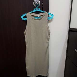 Fitted Light Brown Dress