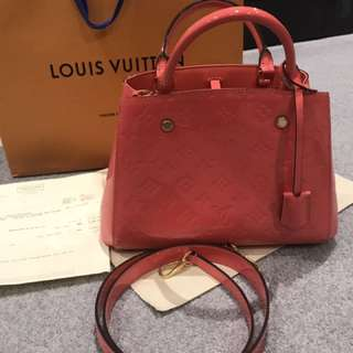 LV Montaigne BB 99%NEW With Purchase Receipt