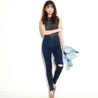 Celana Jeans HW Sobek