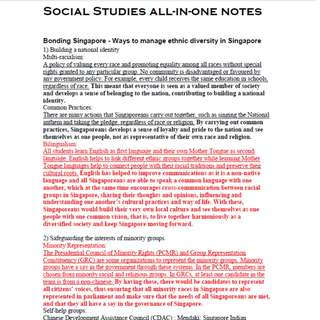 O level Social Studies All-in-one Notes