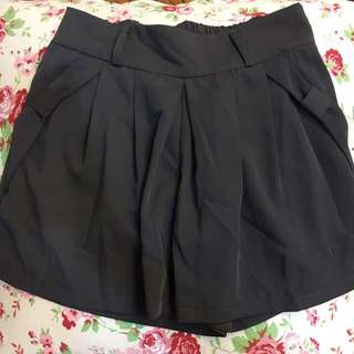 鐵灰色雪紡裙褲