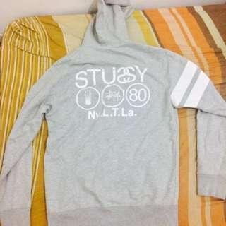Stussy NY.L.T.La Grey Zipper Hoodie