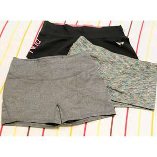3 Large Booty Shorts (used for workout)