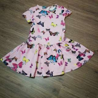Mothercare Butterfly Dress 3-4yrs