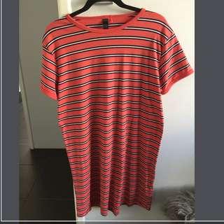 Stripey Tshirt Dress